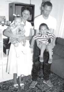 Leonard and his family